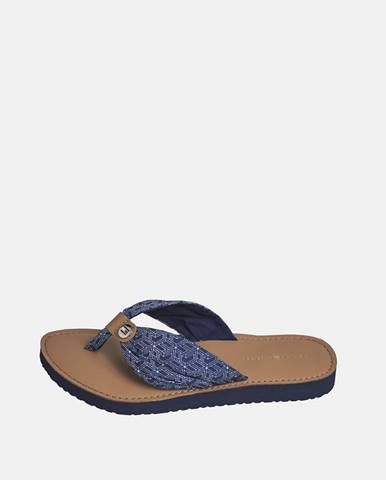 Modré papuče Tommy Hilfiger