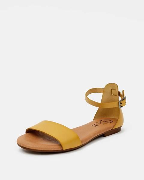 Horčicové sandále OJJU