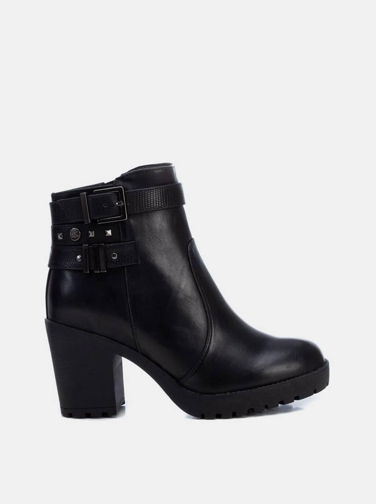 Xti Čierne dámske členkové topánky Xti