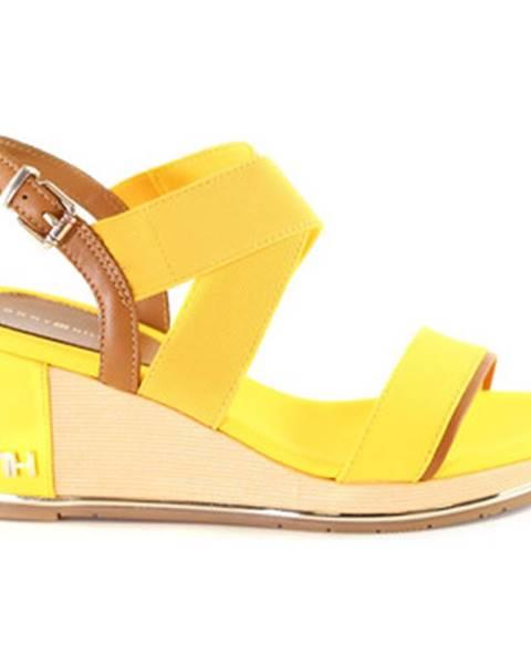 Žlté sandále Tommy Hilfiger