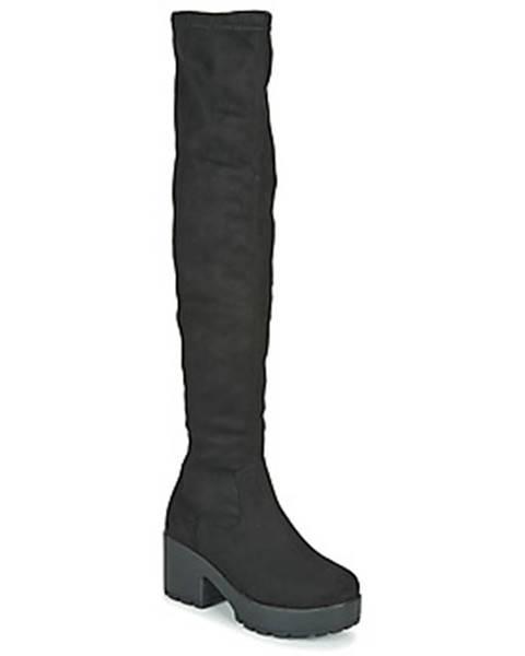 Čierne čižmy Emmshu