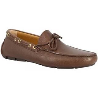 Mokasíny Leonardo Shoes  8103  MOUSSE TESTA DI MORO
