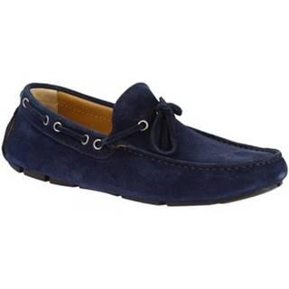 Mokasíny Leonardo Shoes  8103 SOFTY BLU