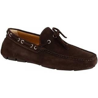 Mokasíny Leonardo Shoes  8103  SOFTY TESTA DI MORO