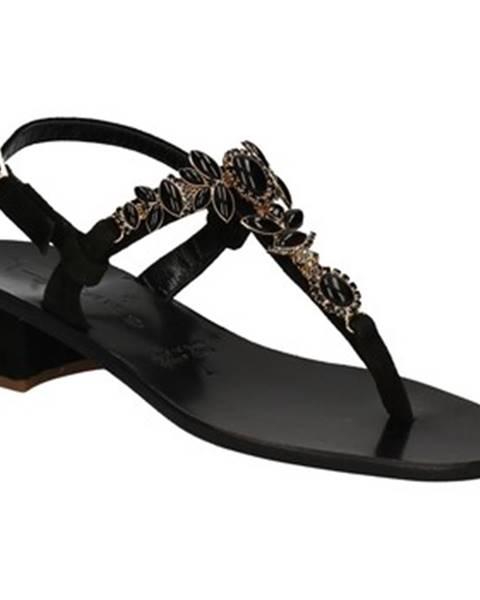 Čierne sandále Positano