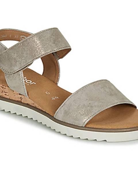 Zlaté sandále Gabor