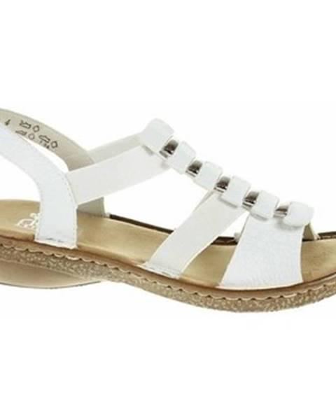 Biele sandále Rieker