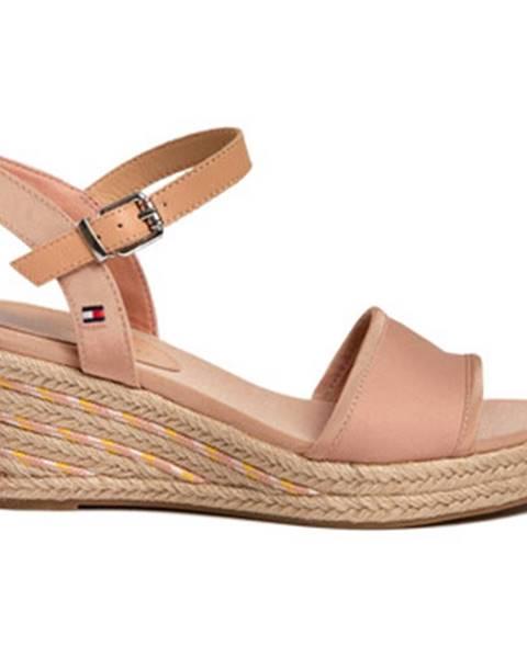 Ružové sandále Tommy Hilfiger