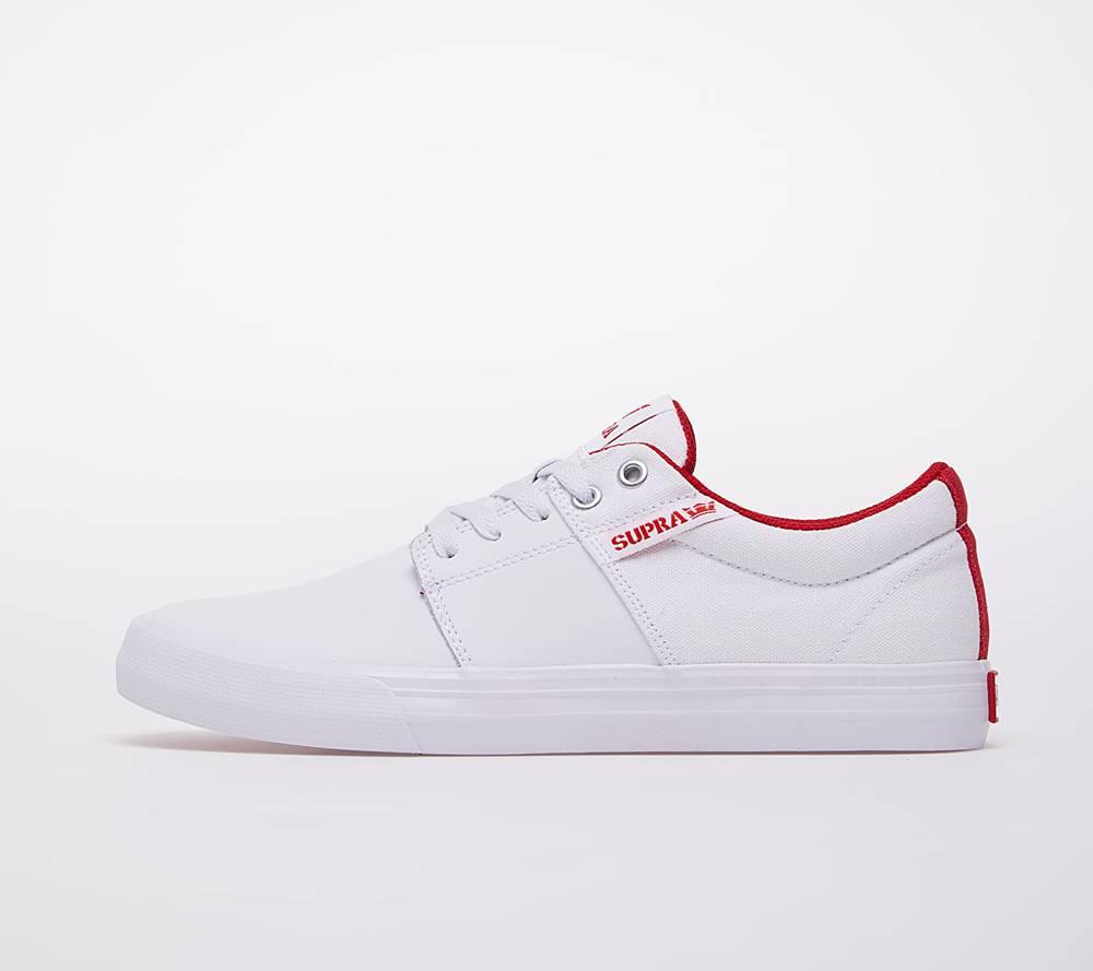 Supra Supra Stacks Vulc II White/ Red