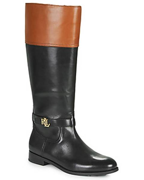 Čierne čižmy Lauren Ralph Lauren