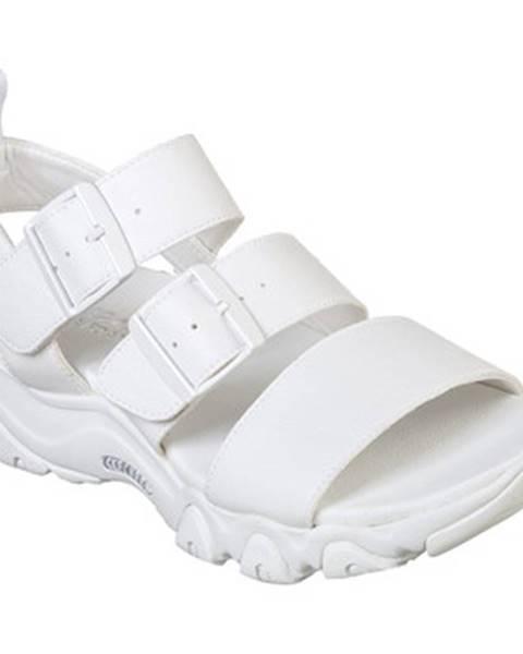 Biele sandále Skechers