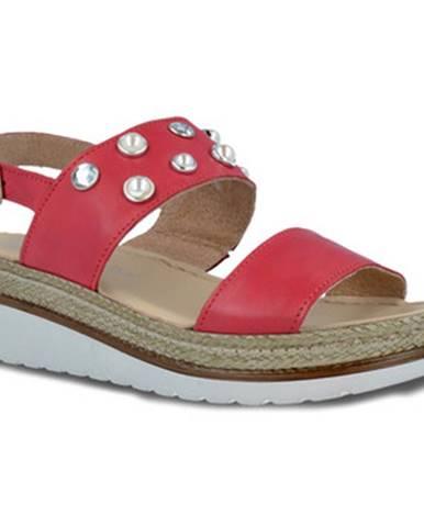 Červené sandále Pitillos