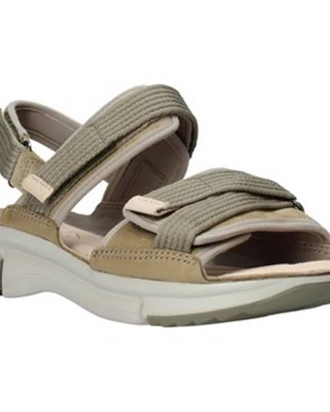 Zelené sandále Clarks