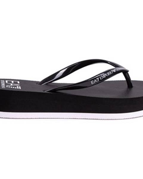Čierne topánky Emporio Armani EA7