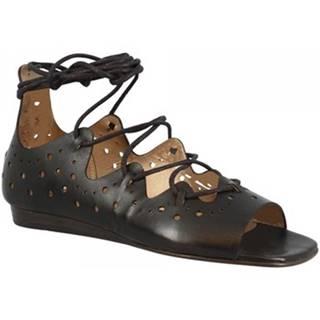 Sandále Leonardo Shoes  Q129 SELLAIO NERO