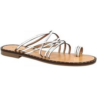 Šľapky Leonardo Shoes  SIENA ARGENTO