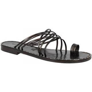 Šľapky Leonardo Shoes  SIENA NERO