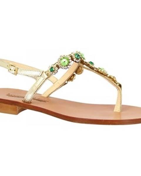 Zlaté sandále Leonardo Shoes