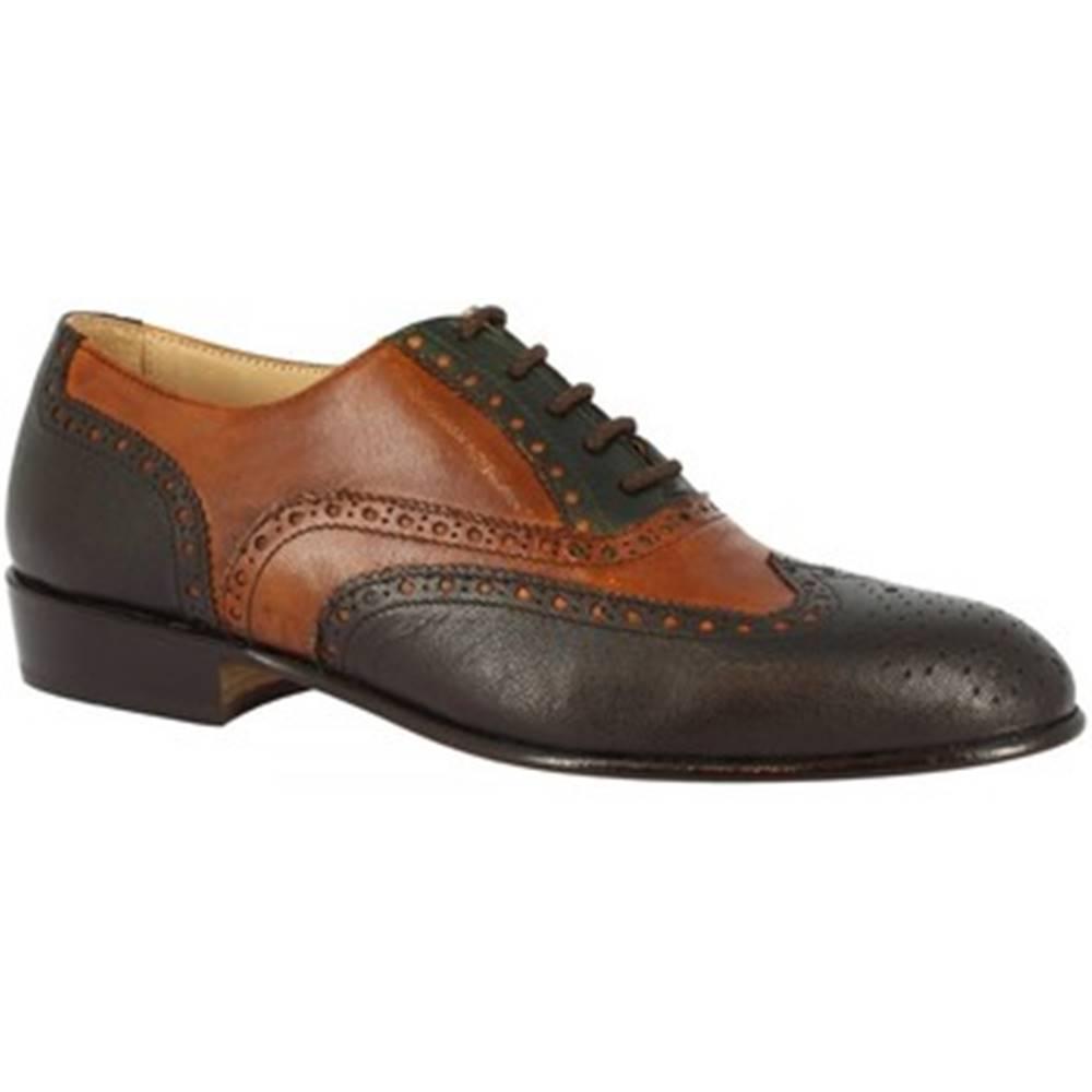 Leonardo Shoes Richelieu Leonardo Shoes  PINA 037 VERDE/CUOIO/T. MORO