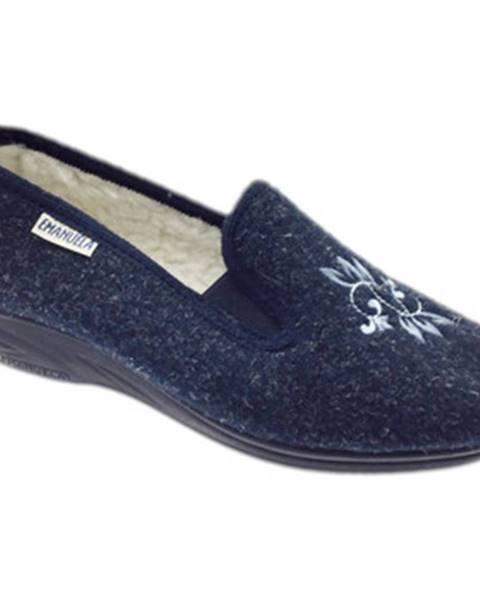 Modré papuče Emanuela