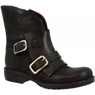 Polokozačky Leonardo Shoes  32525/100 NERO