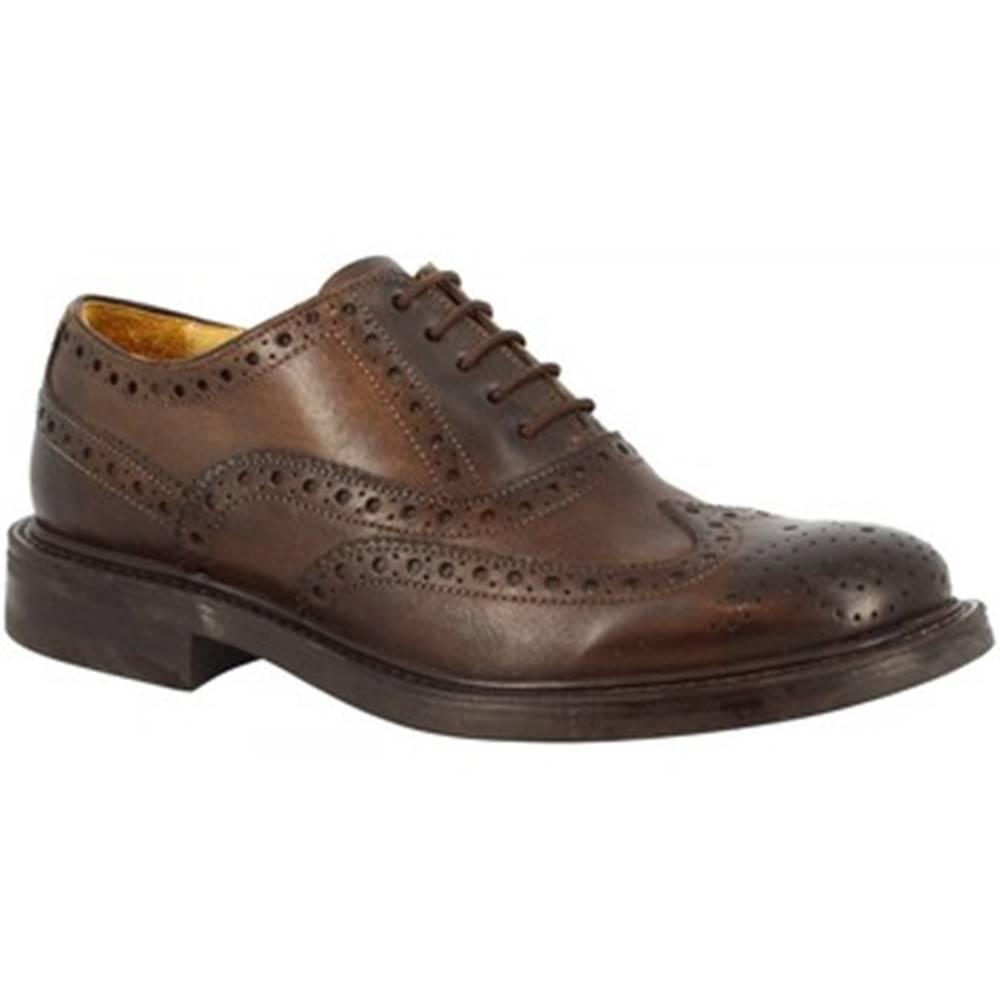 Leonardo Shoes Derbie Leonardo Shoes  4712 DELAVE CIOCCOLATO