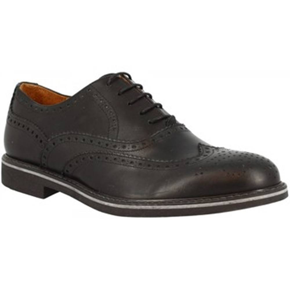Leonardo Shoes Derbie Leonardo Shoes  7004 VITELLO NERO