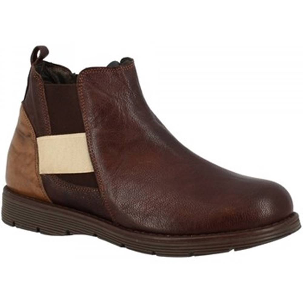 Leonardo Shoes Polokozačky Leonardo Shoes  3005 T. MORO TAUPE