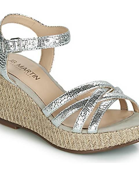 Strieborné sandále JB Martin