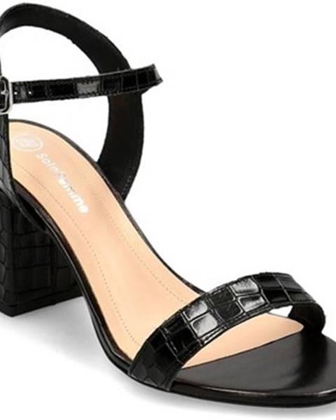 Čierne sandále Solo Femme