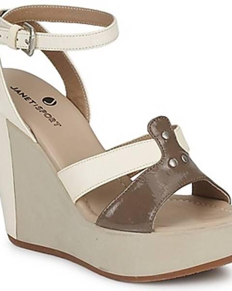 Biele sandále Janet Sport