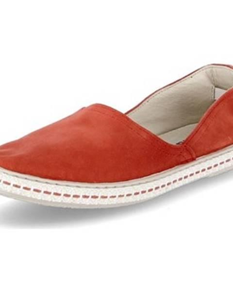 Červené espadrilky Tamaris