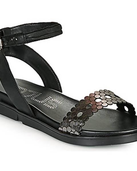 Čierne sandále Mjus