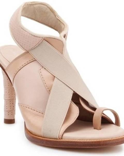 Béžové sandále Lacoste