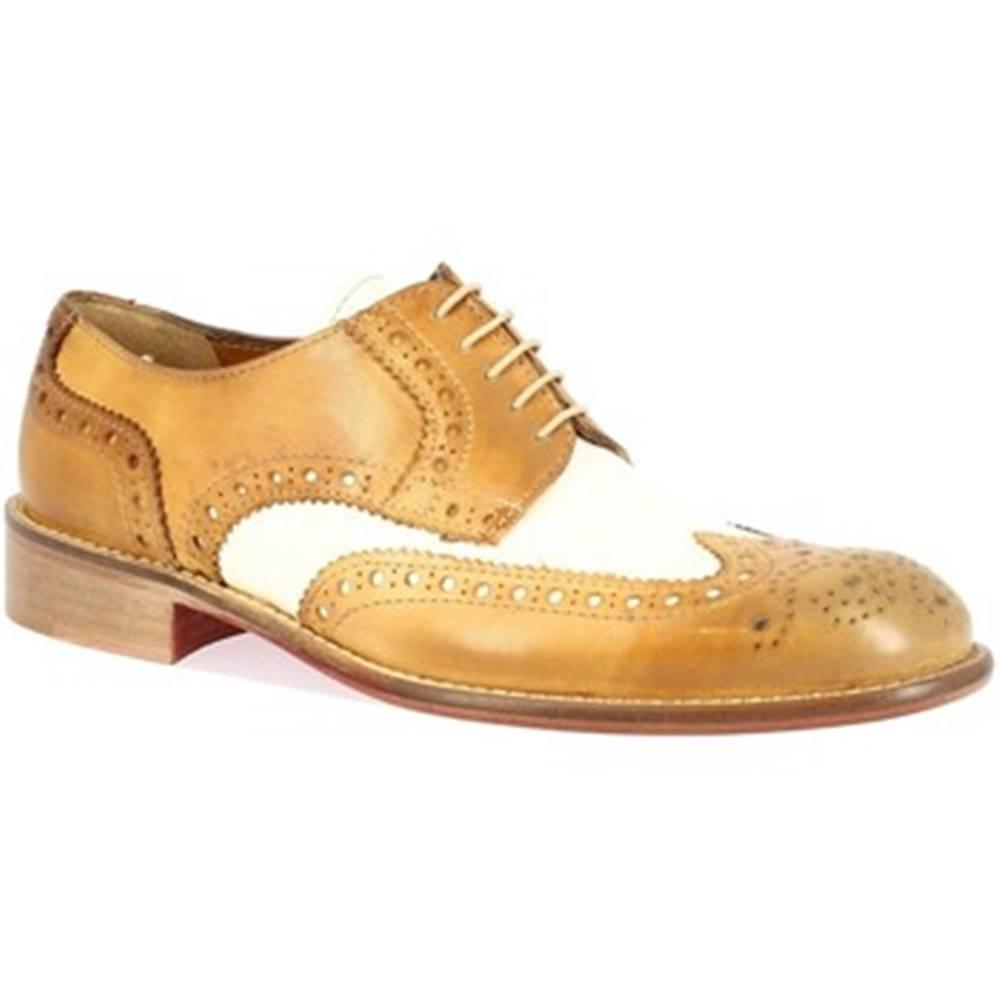 Leonardo Shoes Derbie Leonardo Shoes  T114 CUOIO BIANCO