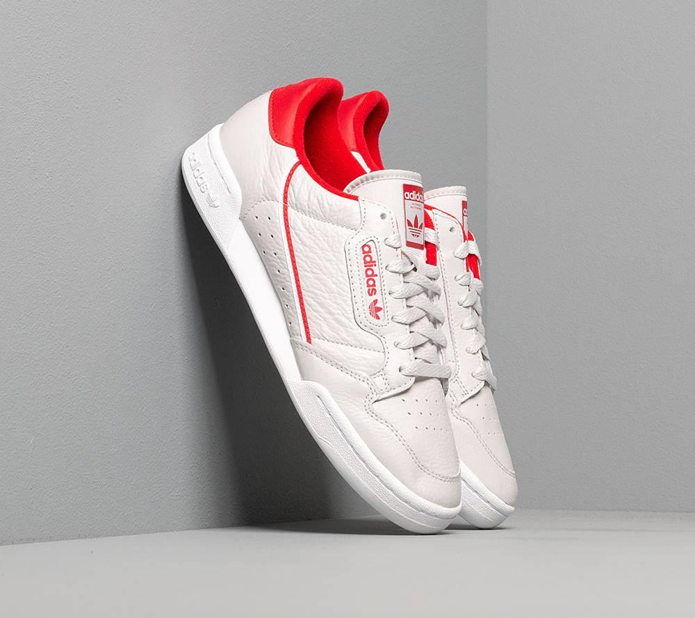 adidas Originals adidas Continental 80 Grey One/ Scarlet/ Ftw White