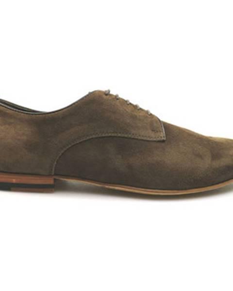 Hnedé topánky Alberto Guardiani