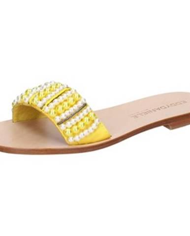 Žlté sandále Eddy Daniele