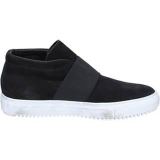 Polokozačky Onelio Moda By Coraf  ONELIO MODA sneakers nero camoscio tessuto BX447