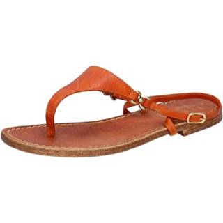 Sandále Eddy Daniele  sandali arancione pelle aw402