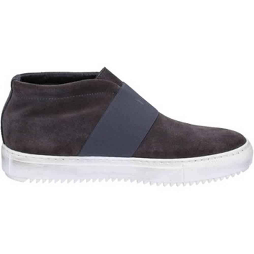 Onelio Moda By Coraf Polokozačky Onelio Moda By Coraf  ONELIO MODA sneakers grigio camoscio tessuto BX446