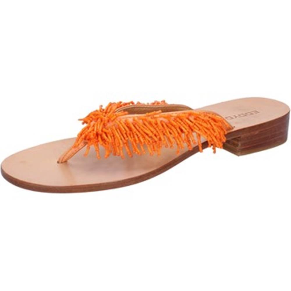 Eddy Daniele Sandále Eddy Daniele  sandali arancione raso perline aw316