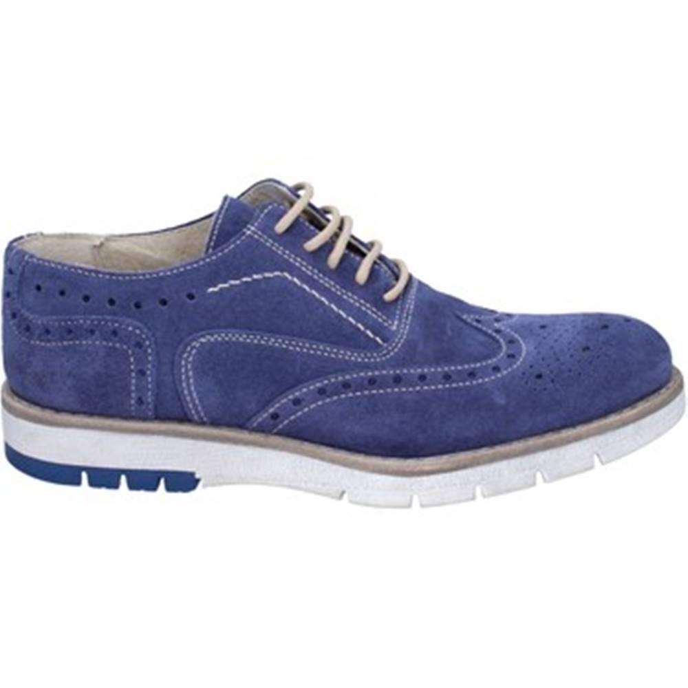Ossiani Derbie Ossiani  classiche blu camoscio BT855