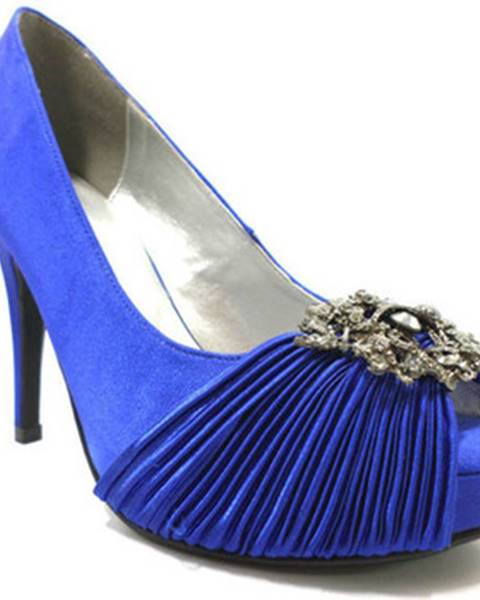 Modré lodičky Haute Couture
