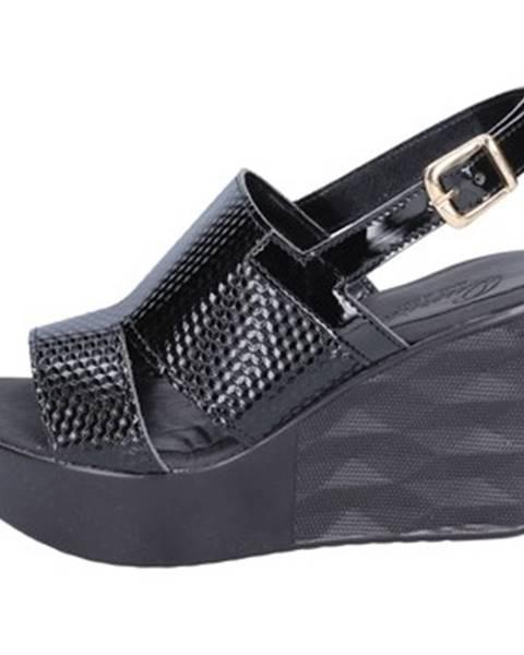 Čierne sandále Querida