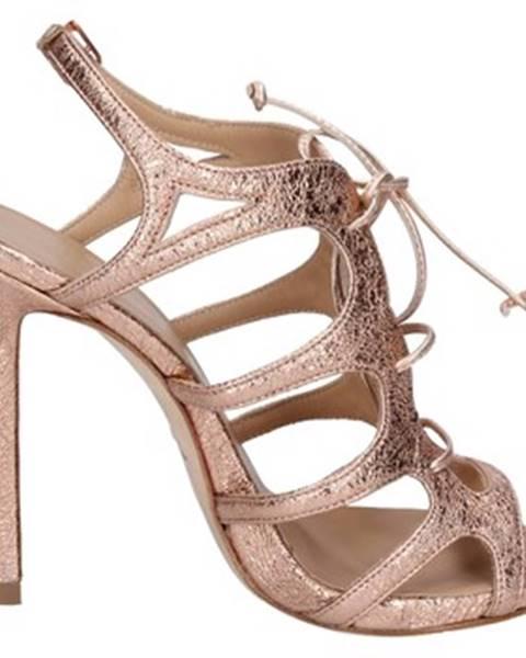 Červené sandále Marc Ellis
