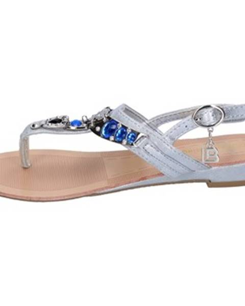 Strieborné sandále Laura Biagiotti