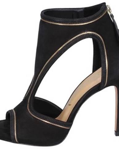 Čierne sandále Vicenza
