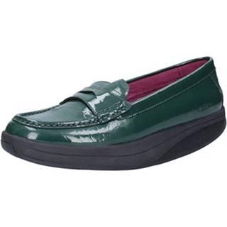Mokasíny Mbt  mocassini verde vernice AC150