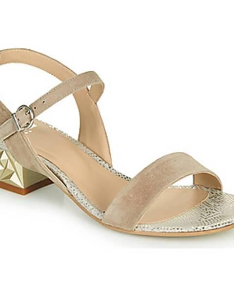 Béžové sandále Perlato